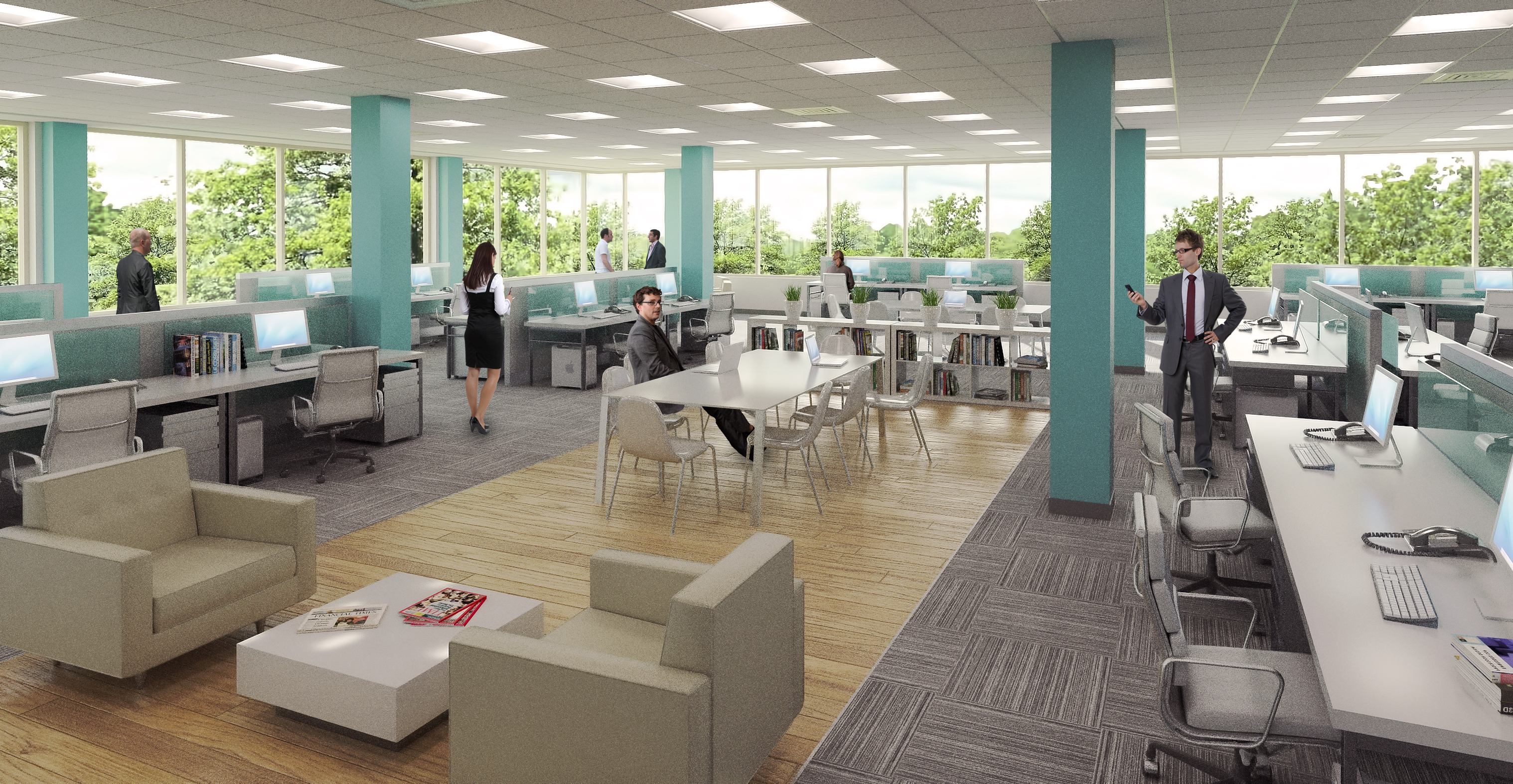 interior office space. This Means You Sign, Say, A 6 Month Lease, But If Want To Upgrade Larger Space Within That Time Period, Are Not Charged With Any Lease-breaking Interior Office